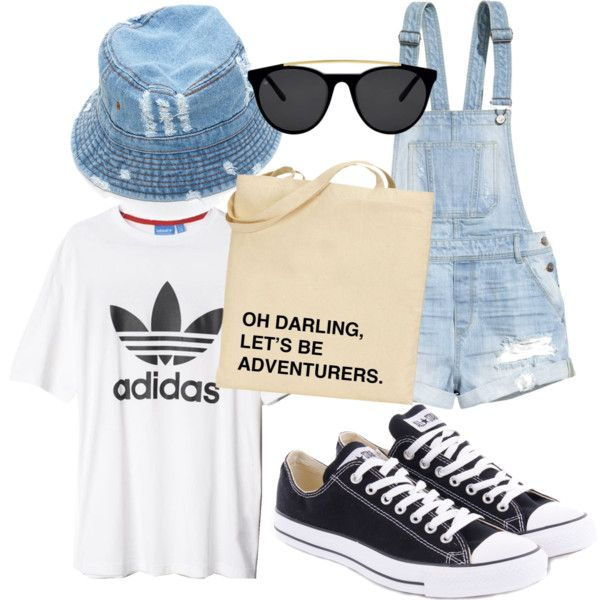 hood by lightbluefashion on Polyvore featuring polyvore fashion style adidas H&M Converse Smoke & Mirrors
