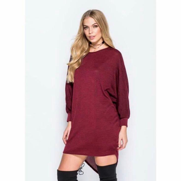 Wine jumper dress £15.00   Shop now @mayhem_trendsuk  🛍  #fashion #style #fashionblogger #styleblogger #fashionstyle #partywear #womensfashion #onlineshopping #retailtherapy #ootd #sale #instastyle  https://www.facebook.com/MayhemTrendsUK/