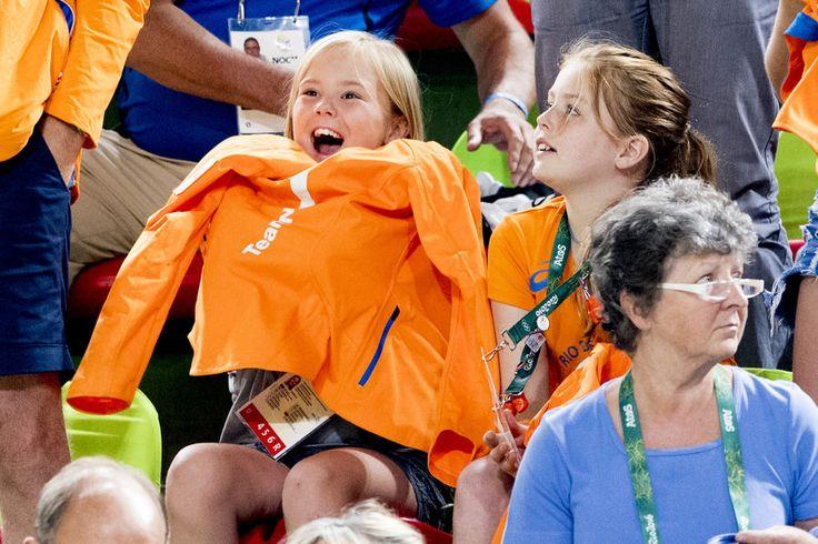 Les princesses Ariane et Alexia des Pays-Bas aux JO de Rio, le 15 août 2016