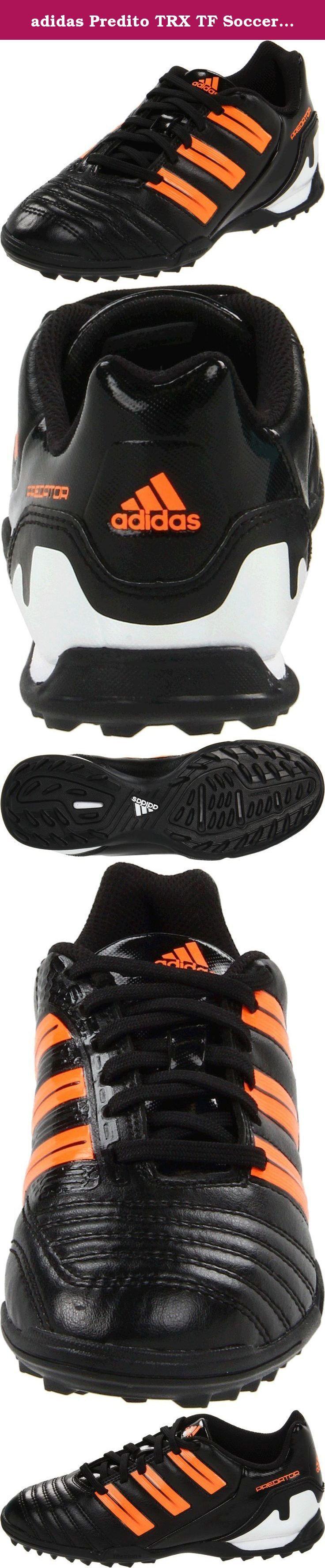 adidas Predito TRX TF Soccer Cleat (Toddler/Little Kid/Big Kid),Black/Warning/White,1.5 M US Little Kid.