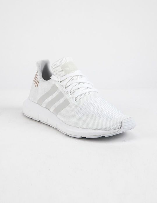 ADIDAS ADIDAS SWIFT RUN CLOUD WHITE & CRYSTAL WHITE SHOES from Tillys | Real Simple