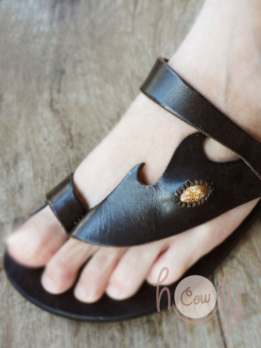 Beautiful Handmade Leather Sandals by HolyCowproducts on Etsy