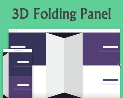 3D Folding Panel in CSS and jQuery