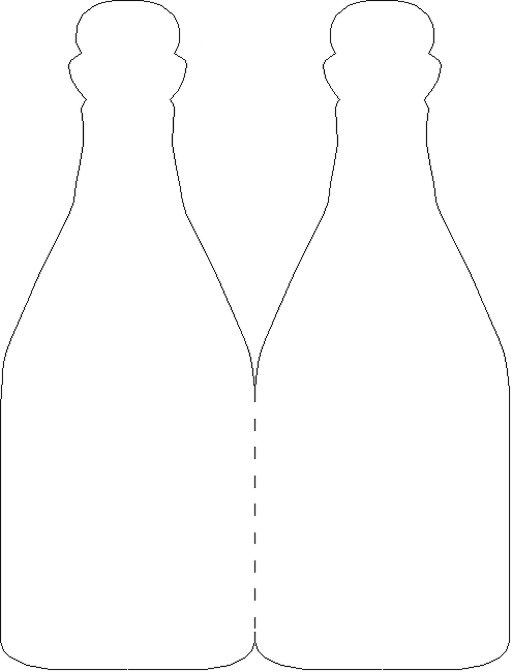 Wine bottle card template