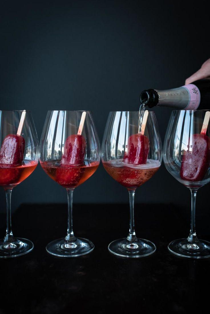 Himbeerlimes & Rosenwasser Popsicles, Foodistas Bloggeburtstag, Drink Rezept, Cocktail Rezept, fancy Drink