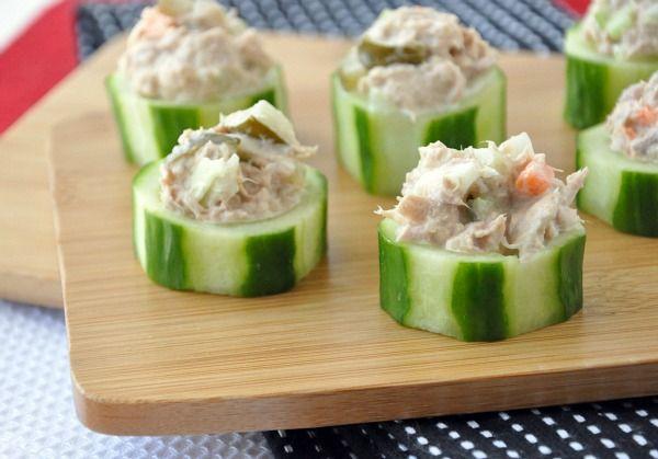 Tuna Salad Cucumber Cups
