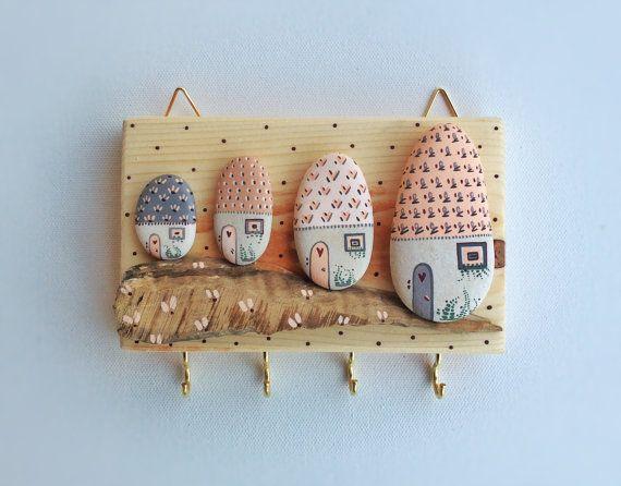 RESERVED - Key Holder, Wall Hook, Wood Key Holder, Wall Decor, Wall Hanging Key Holder, Owls