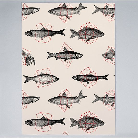 Florent Bodart - Fishes in Geometrics I - Print