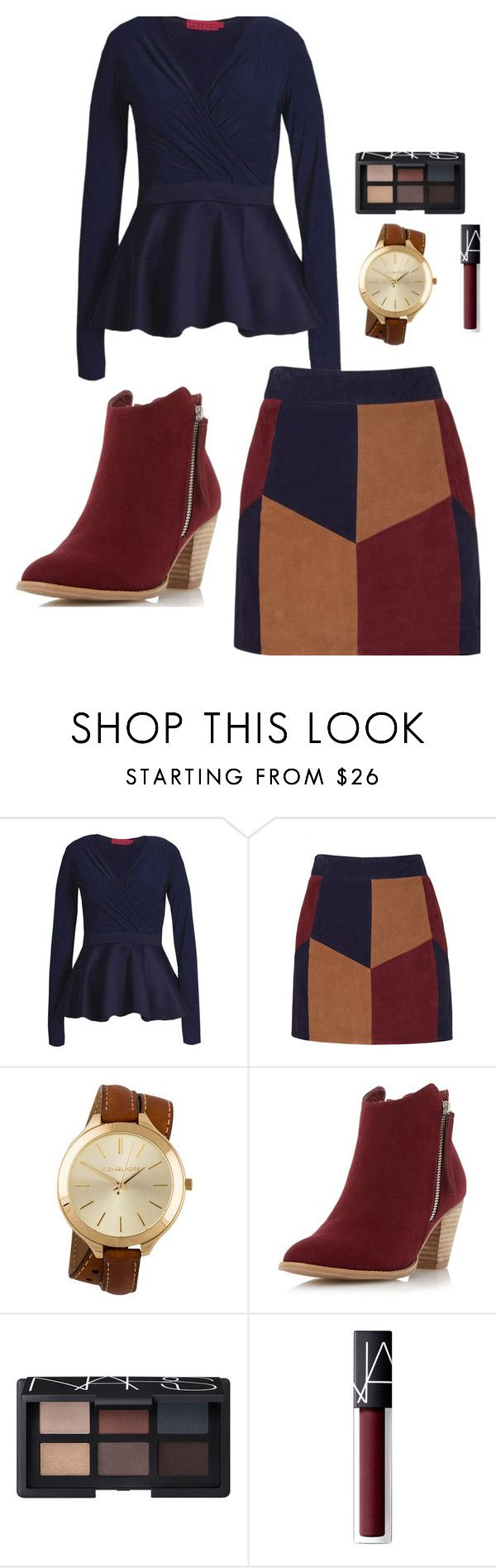 """Church outfit"" by randa1319 on Polyvore featuring Boohoo, LaMarque, Michael Kors, Dorothy Perkins and NARS Cosmetics"