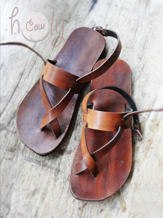 Beautiful Handmade Leather Sandals por HolyCowproducts en Etsy, $115.00