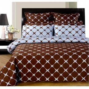 Chocolate and Blue 8-PC Bloomingdale Duvet covers & sheet Set