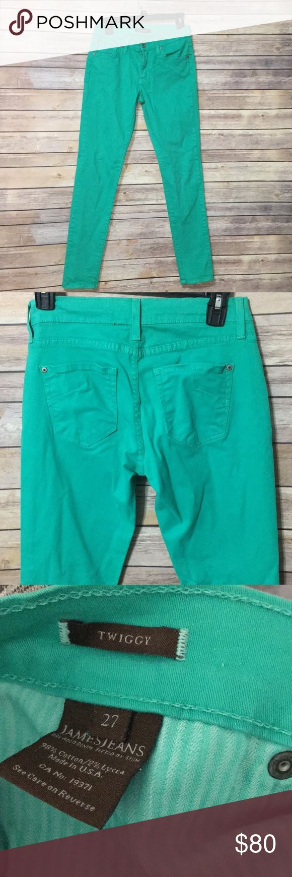 James Jeans Twiggy Cute teal skinny jeans really soft 98% cotton. Made in USA James Jeans Jeans Skinny