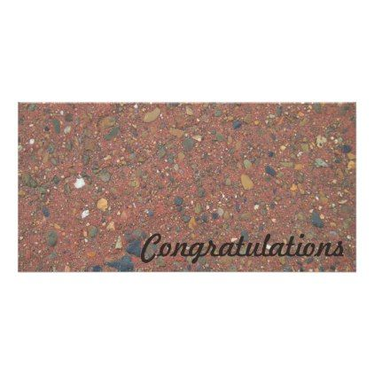 #photo - #Congratulations photo card - sand and pebbles