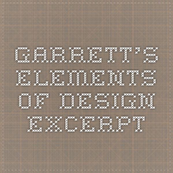 Garrett's elements of design excerpt