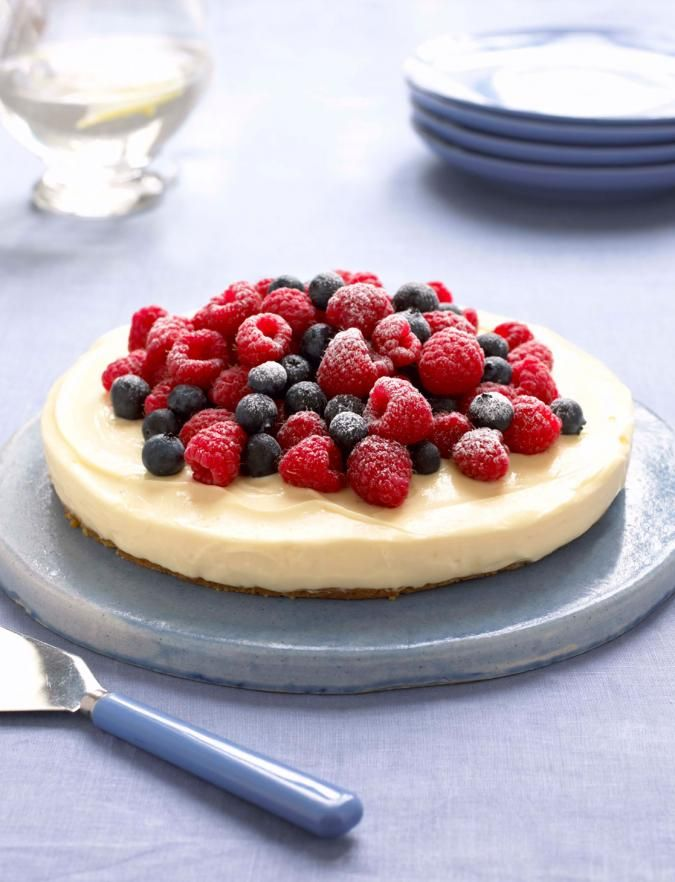 heavenly lemon cheesecake on a ginger crust recipe by mary berry of the great