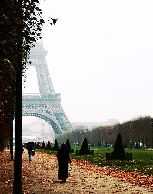 Crisp fall mornings in Paris.
