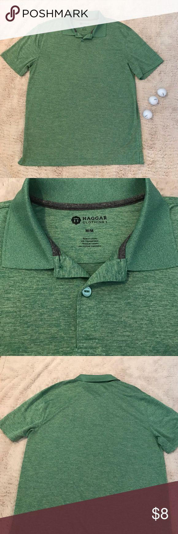 Men's golf shirt Men's golf shirt size medium, Haggar brand from Kohls, really pretty green color. Haggar Shirts Polos
