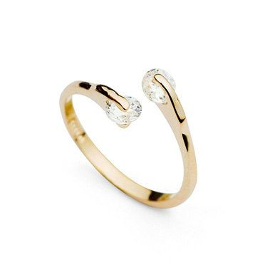 RG007 18K Gold Plated Ring with Austrian crystal by DenaliGold, $10.14