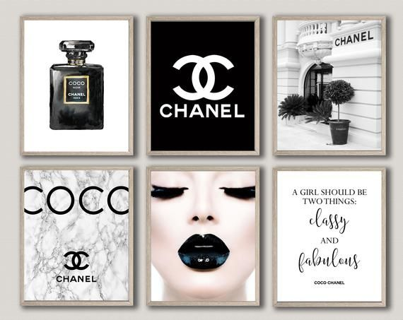 Chanel Chanel Decor Coco Chanel Wall Art Chanel Prints Set Makeup Print Chanel Quote Fashion Wall Ar Chanel Wall Art Chanel Decor Fashion Wall Art Printables