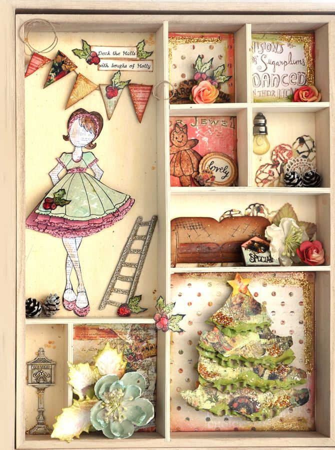Scrap Escape: Prima Julie Nutting Luggage - Off to Grandma's for the Holidays