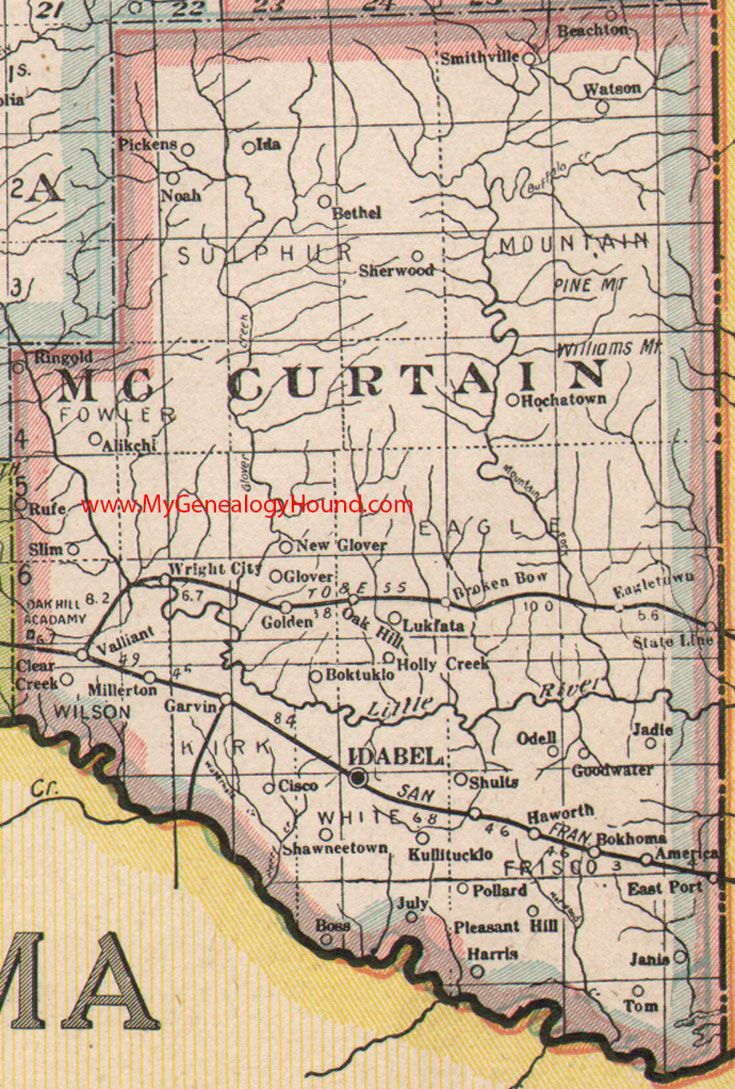 Best Vintage Oklahoma And Indian Nation Maps Images On - Ok map