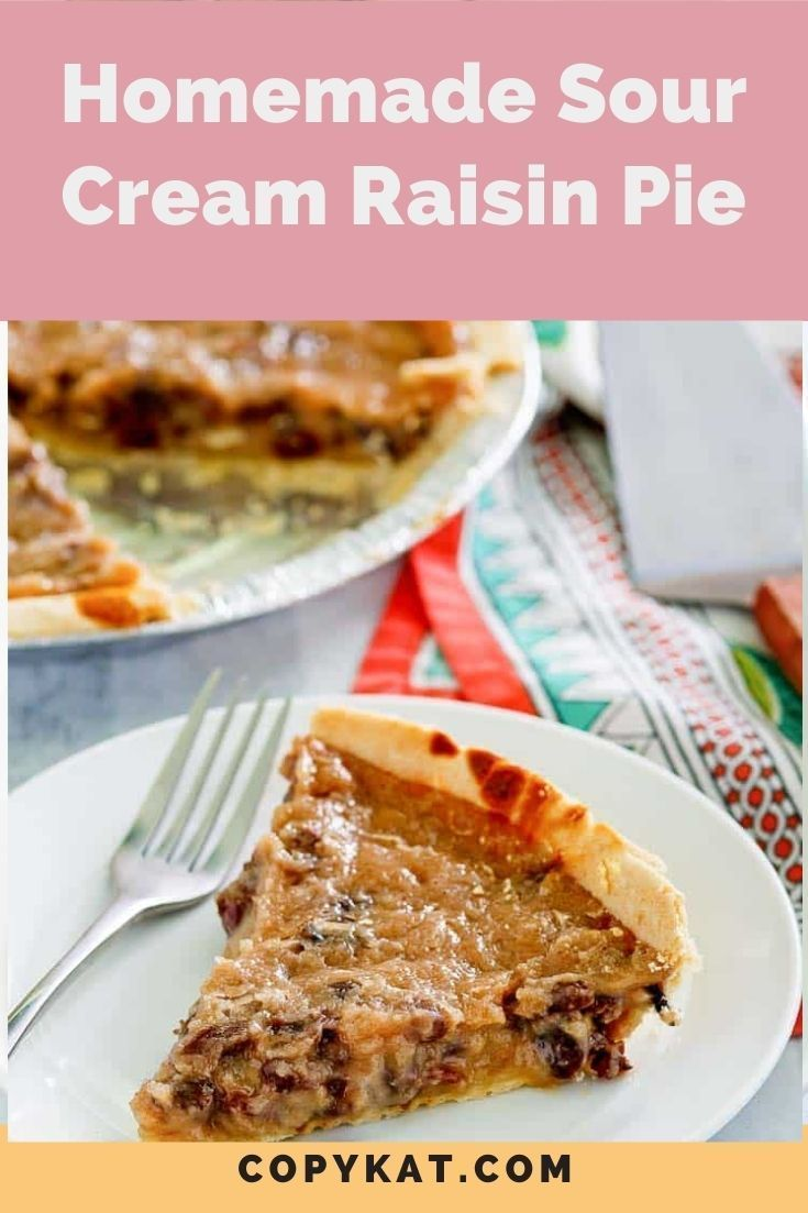 Sour Cream Raisin Pie Copykat Recipes Recipe In 2020 Homemade Sour Cream Easy Pie Recipes Raisin Pie