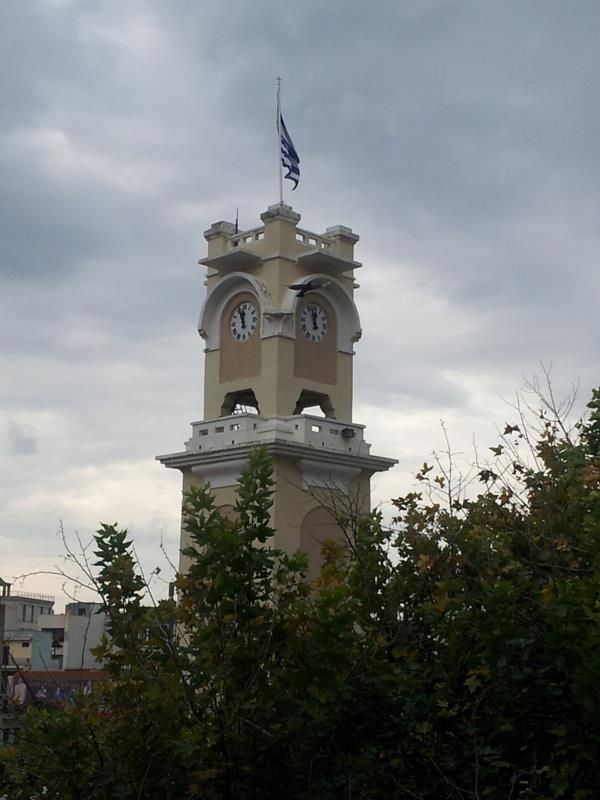 The clock tower @ cenrtal square, Xanthi.