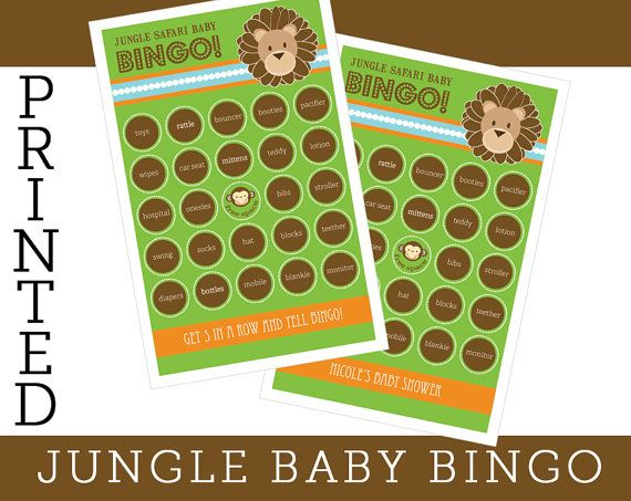 jungle theme baby shower games baby bingo cards baby by modparty