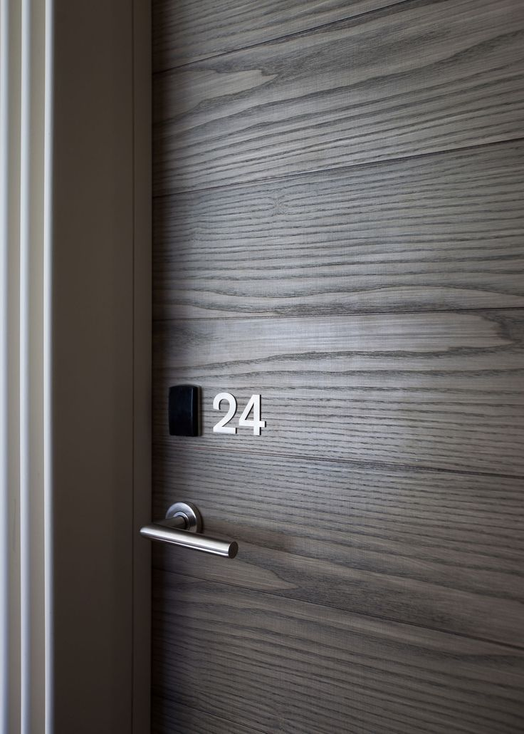 Simple Door Numbers | Love the wood