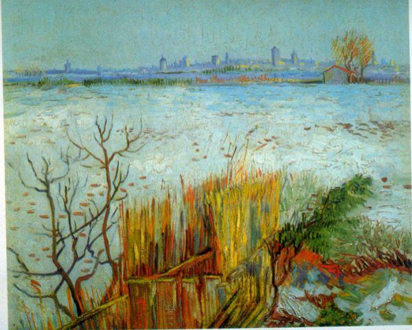 Reproduction de Van Gogh, Arles. Tableau peint à la main dans nos ateliers. Peinture à l'huile sur toile.