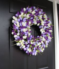 Easter Wreath- Easter Decoration- Spring Wreath- Tulips- Spring Decor- Springâ?¦