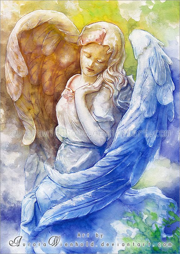 Everlasting Angel - Watercolors by AuroraWienhold.deviantart.com on @deviantART