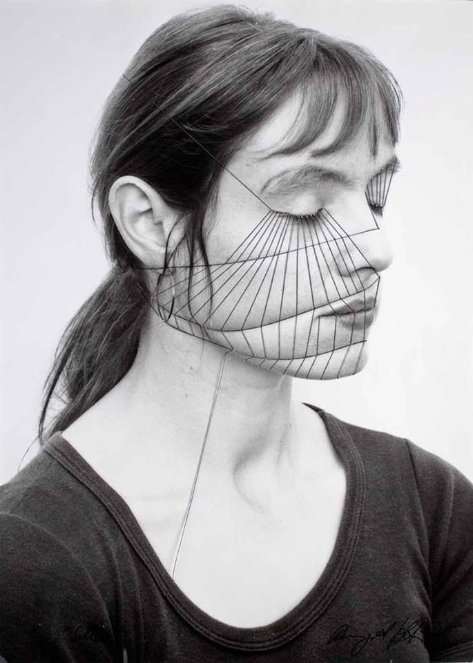 Self by Annegret Soltau  Needle and thread  1975- 76