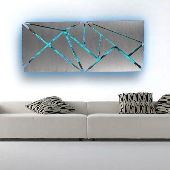 Metal Wall Art  Lighted Wall Art  Metal Wall by DV8Studio on Etsy