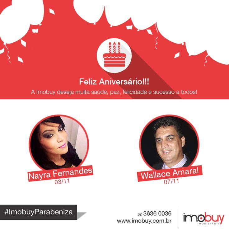 A Imobuy deseja aos aniversariantes desta semana muita paz, saúde, felicidades e sucesso! Parabéns e Feliz Aniversário!