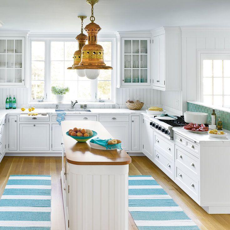 Turquoise Blue White Beach Theme Kitchen: 1000+ Ideas About Coastal Kitchens On Pinterest