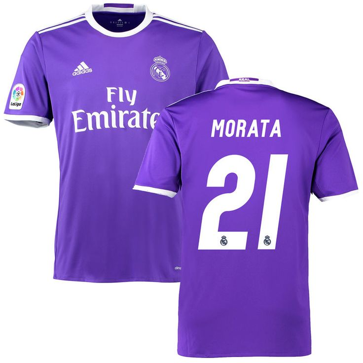 Morata Real Madrid adidas 2016/17 Away Replica Jersey - Purple