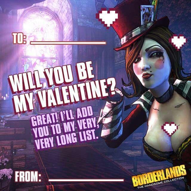 Borderlands Valentines Day Card My Nerdy Side Pinterest