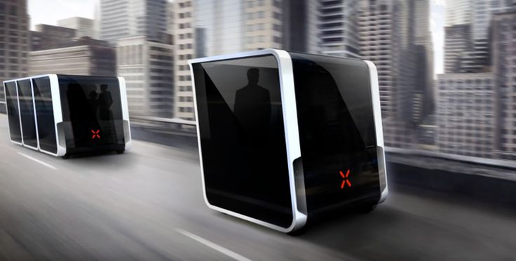 The Next Future Transportation system is designed to act as an efficient, coordinated urban network. Still in the early concept stages, the design features a series of modular, self-driving electric pods that pick you up on demand and link together in bus-like form.