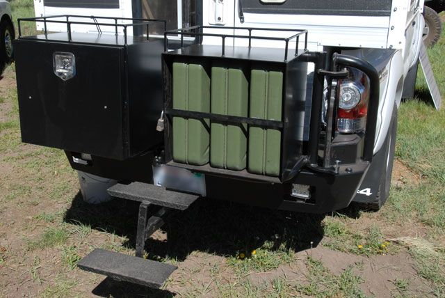 Four Wheel Camper With Aluminess Rear Bumper And Swing