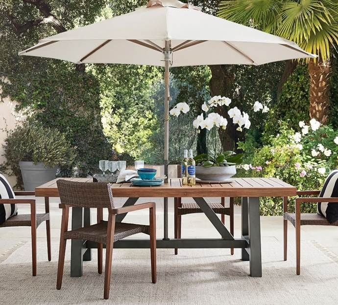 Outdoor Rugs 15 Rugs To Complete An Alfresco Setting In 2020 Patio Dining Furniture Outdoor Dining Outdoor Dining Table