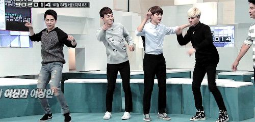dancing with friends *I want to say I'm Xiumin but I'm probably Chen