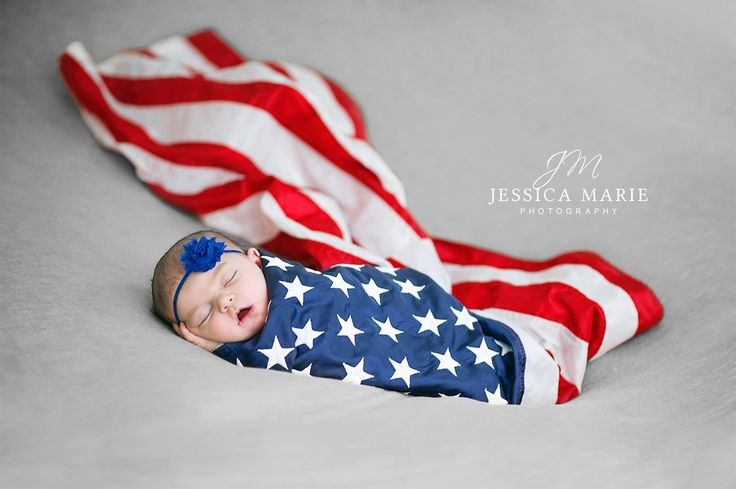 Best use of flag I've seen in newborn pics
