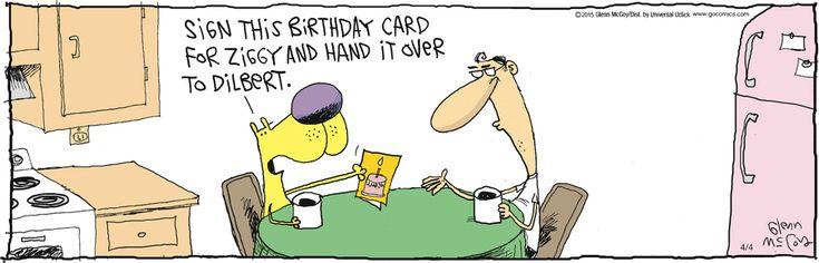 Passing around the birthday card – Dilbert Birthday Cards