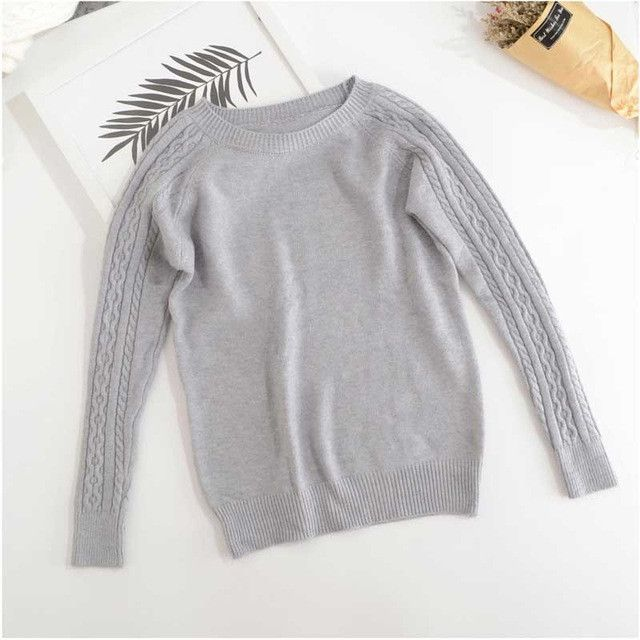 High Quality Cashmere Sweater Women Winter Pullover Solid Knitted ...