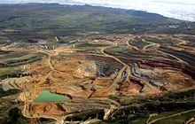 Perú - Cuenca minera aurífera Yanacocha cerca de la ciudad de Cajamarca.