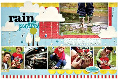 scrapbookScrapbook Ideas, Scrapbook Design, Kim Watson, Scrapbook Photos, Create Keepsake, Rain Puddle, Scrapbook Layout, Create Rain, Scrapbook Pages