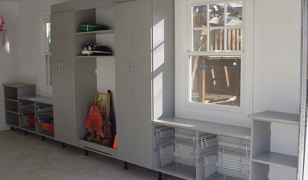 Garage cabinetry in Moonlight