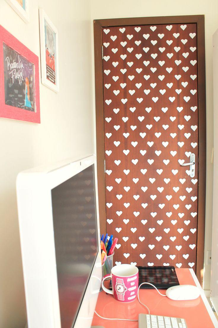 Radioativa Fluffy: Ideia: Porta decorada