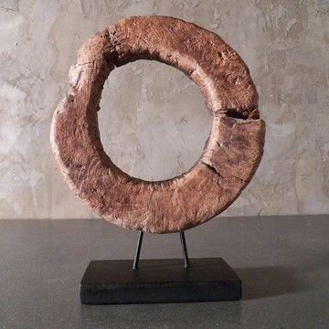 indonesian teak rice pounder ring